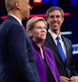 Cory Booker, Elizabeth Warren, Beto O'Rourke